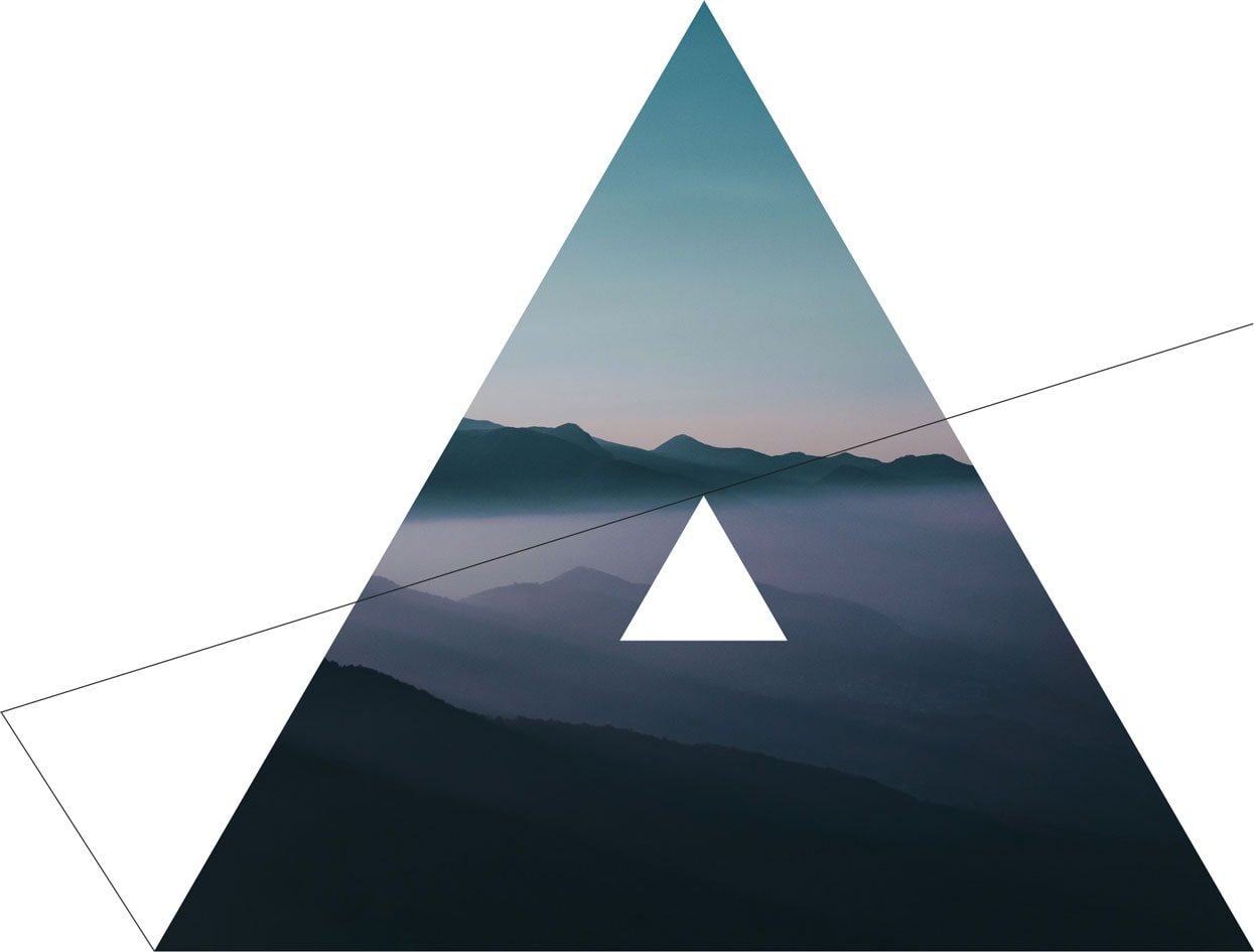 mountain at dusk lines