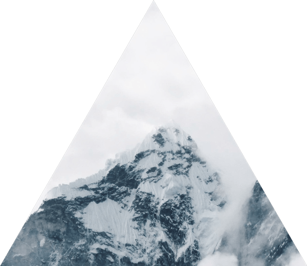 triangle mountain snow clouds