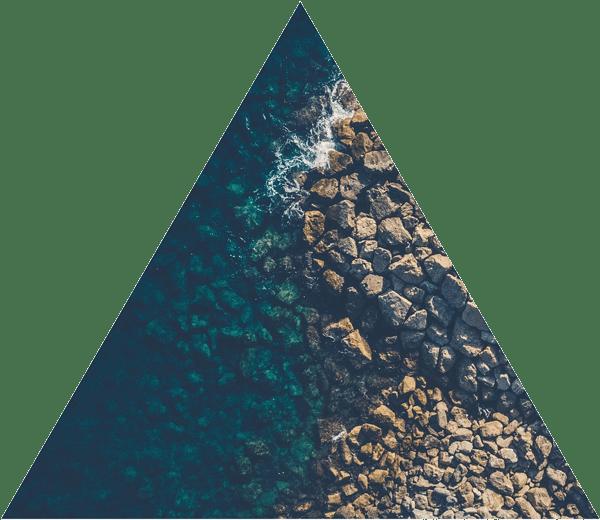 Triangle Rocks Meet Ocean