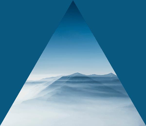Triangle Blue Mist Over Mountain Peak